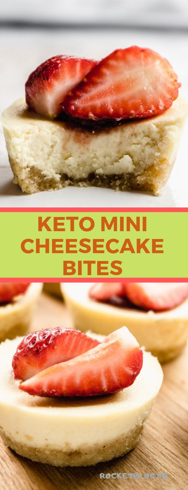 KETO MINI CHEESECAKE BITES #CHEESECAKE #KETORECIPES