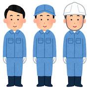 手袋・帽子・ヘルメットを付けた作業員のイラスト(男性)