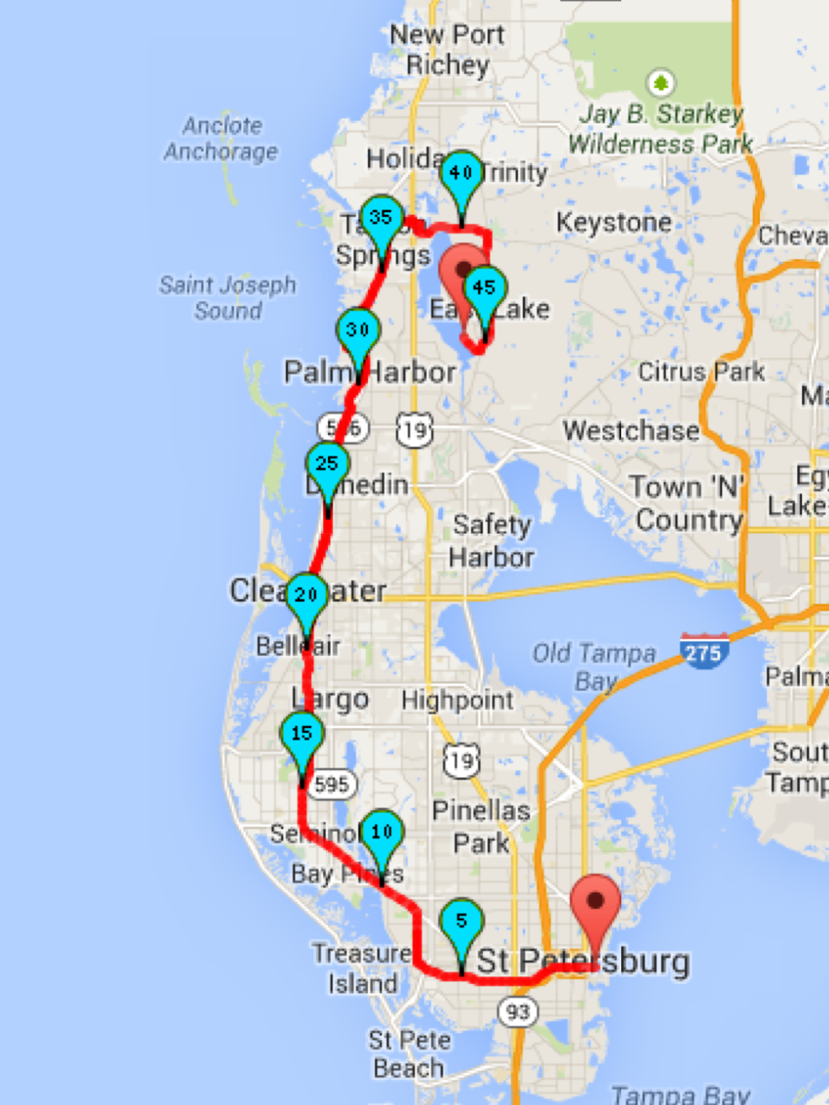 Existing In BFE Bicycling To Clearwater