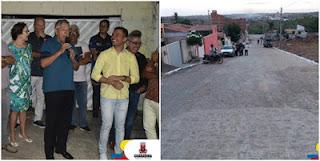 Zenóbio entrega o calçamento da Rua Estudante Paulo Roberto, no Clóvis Bezerra
