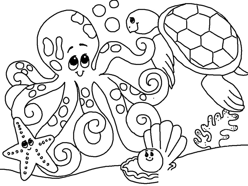 Free under the sea coloring pages to print for kids for Under the sea coloring pages for preschool