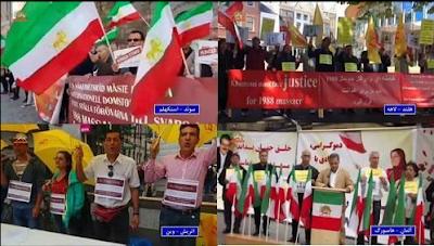 حملة مناصري مجاهدي خلق في ألمانيا وكندا للتضامن مع السجناء السياسيين المضربين عن الطعام