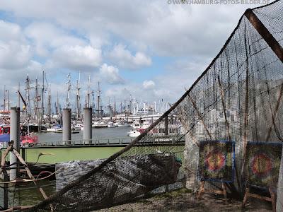 Fischernetz am Hamburger Hafen