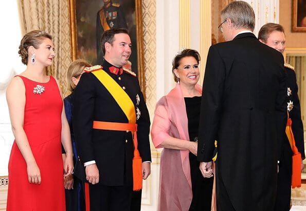 Maria Teresa's Scroll Tiara, Princess Stephanie's butterfly tiara, Princess Alexandra's Charlotte's Pearl and Diamond Choker tiara