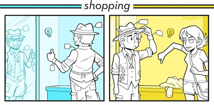 16 Funny Pictures Of The Startling Differences Between Single And Married Life - Shopping