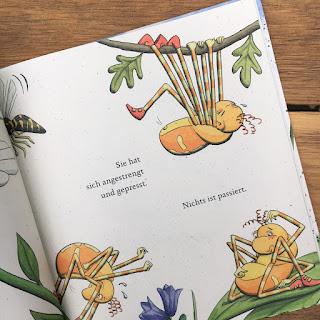 Spinnst du schon, von Tine Ziegler, Mele Brink, Verlag Edition Pastorplatz, Bilderbuch ab 3 Jahren, Rezension von Kinderbuchblog Familienbücherei