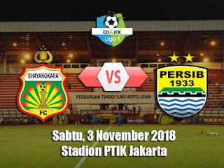 Prediksi Bhayangkara FC vs Persib Bandung - Sabtu 3 November 2018