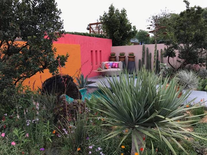 Inland Homes: Beneath a Mexican Sky. Manoj Malde. RHS Chelsea Flower Show 2017
