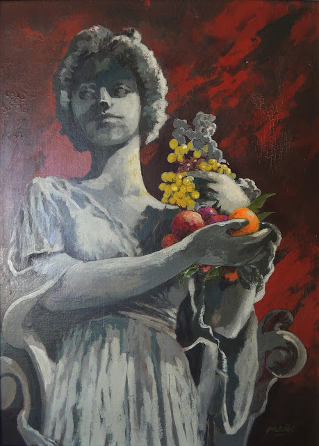 Pablo Mañé arte latinoamericano pintura surrealista mujer y frutas