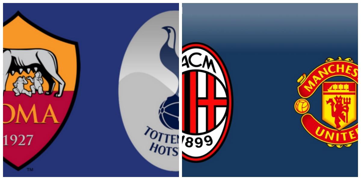 Roma-Tottenham 1-4 e Milan-Manchester Unites 1-1 ( 9-10 dopo calci di rigore) | Calcio d'Estate ICC 2018.