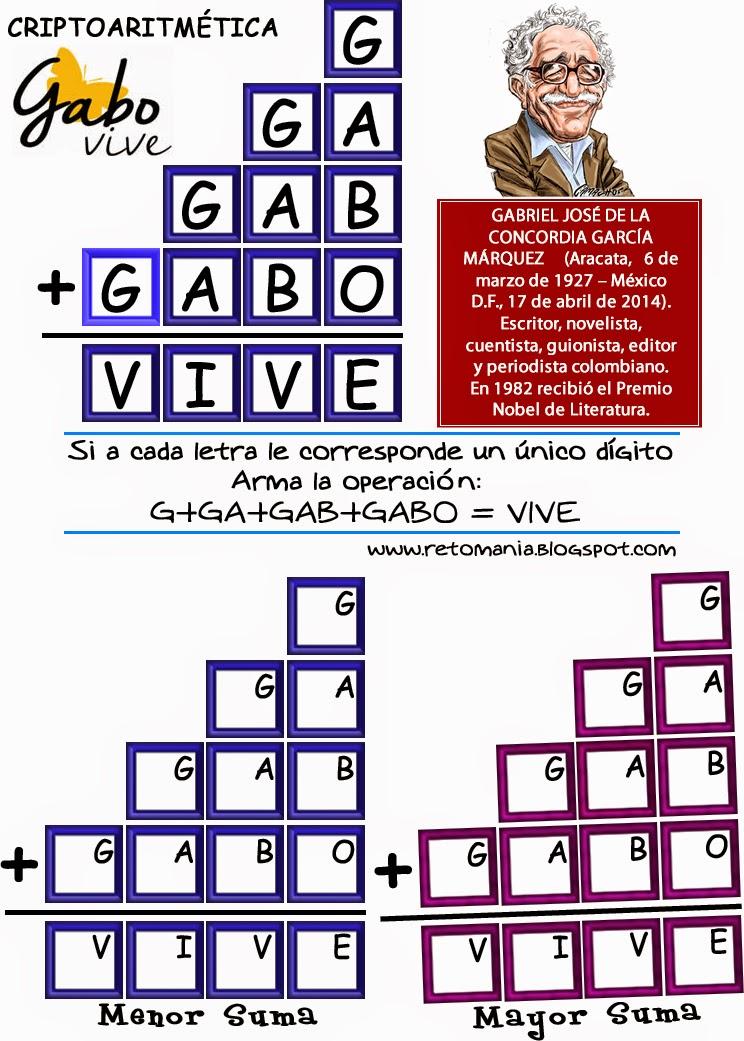 Criptoaritmética, Alfamética, Retos matemáticos, Desafíos matemáticos, Problemas matemáticos, problemas para pensar, Criptosumas