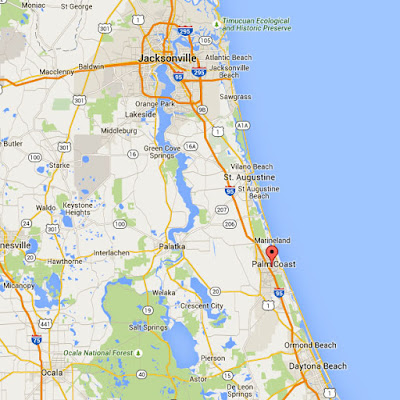 Jacksonville, Florida to Palm Coast, Florida - Google Maps