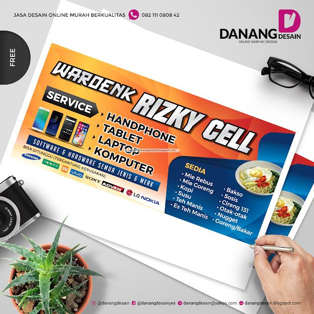 Contoh Desain Spanduk Banner Counter Handphone Contoh