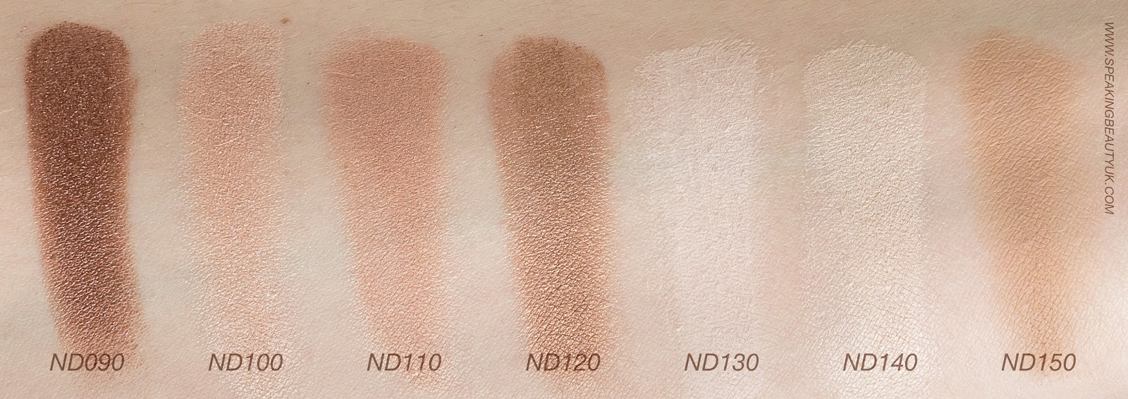 Zoeva Nude Spectrum Eyeshadow Palette swatches