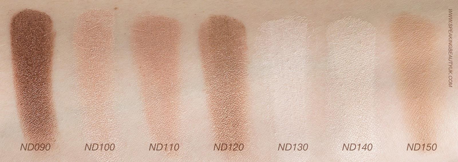 Zoeva Nude Spectrum Eyeshadow Palette swatches