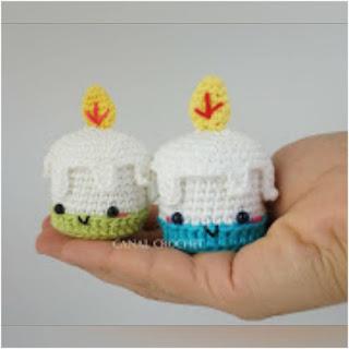patron amigurumi Vela canal crochet