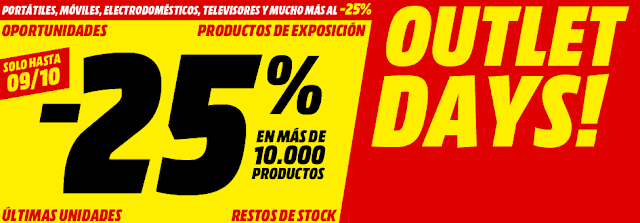 Top 15 promoción Outlet Days! de Media Markt