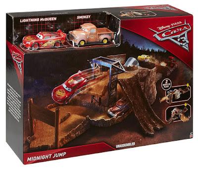 DISNEY Cars 3 - Circuito carreras a medianoche    Mattel 2017   JUGUETE DE LA PELICULA   Midnight Jump CAJA JUGUETE