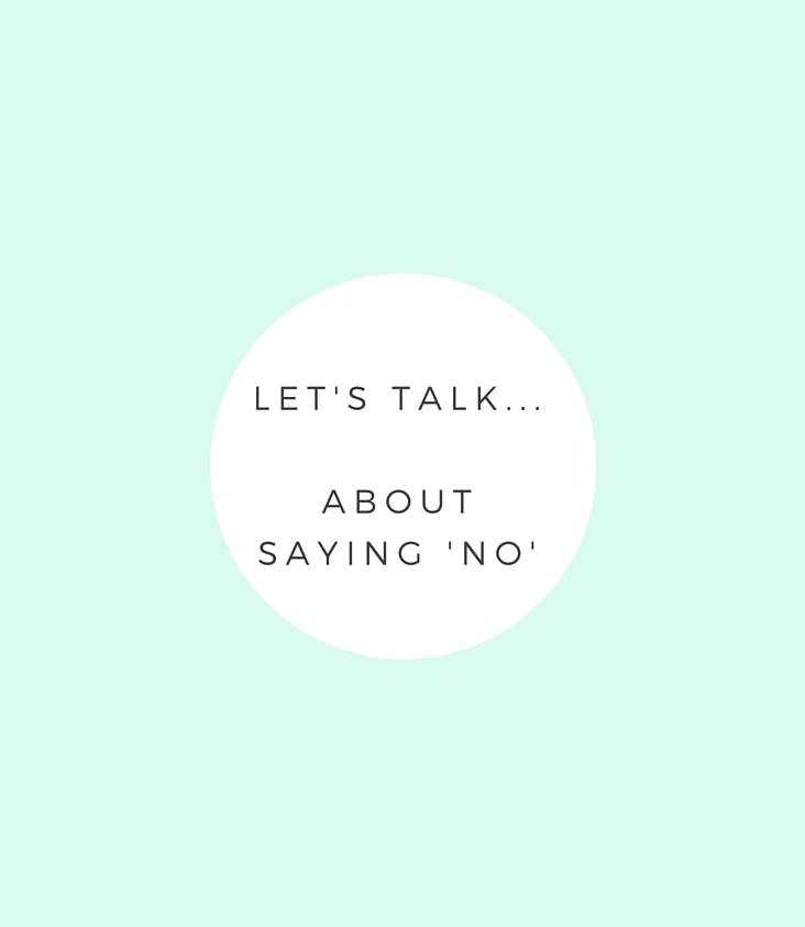 Saying No - Advice