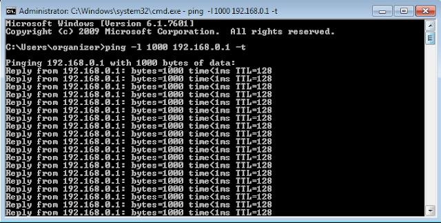 Hasil Ping Menggunakan CMD