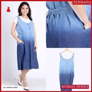MOM004D39 Dress Hamil Menyusui Modis Gradasi Dresshamil Ibu Hamil