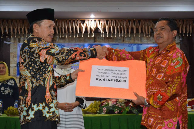 700 RT/RW Koto Tangah Terima Dana Operasional