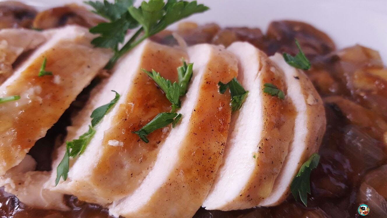 Pechugas de pollo al vermut huele bien for Que cocinar con pollo