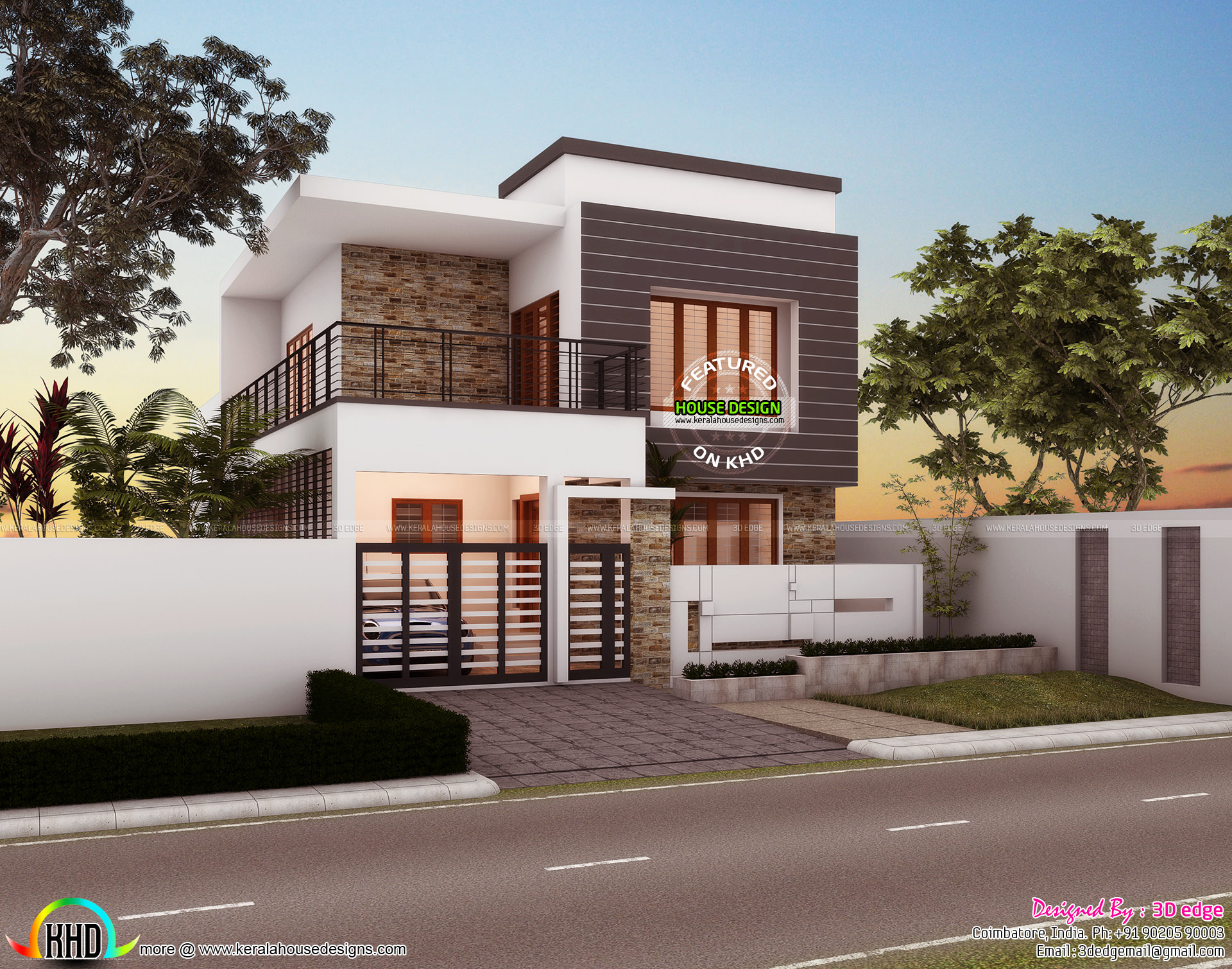 1250 sq ft simple modern style small house kerala home for 1250 square feet house