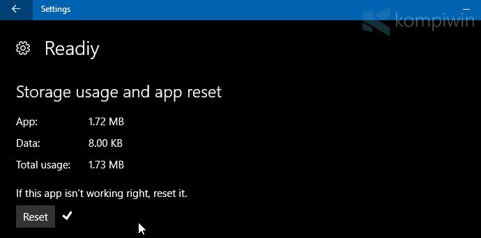Cara Reset Aplikasi Windows 10 agar Kembali Berjalan Normal 3