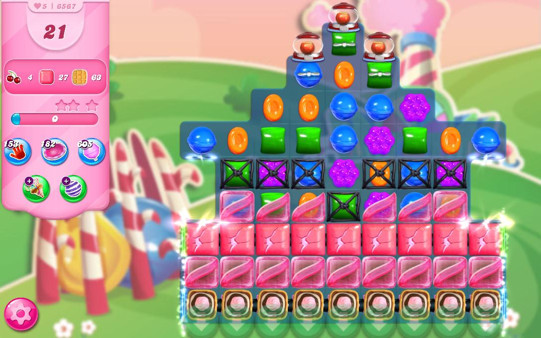 Candy Crush Saga level 6567