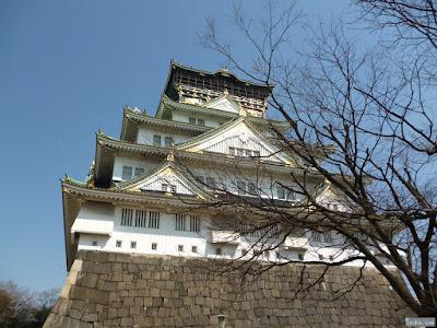 大阪城と月