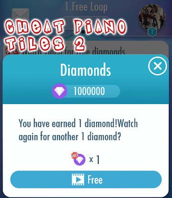 Cheat Piano tiles 2 unlimited diamond dan semua lagu vip terbuka