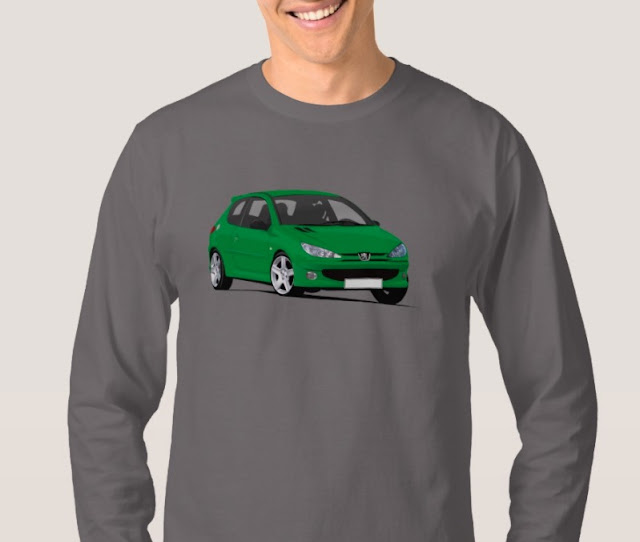 Peugeot 206 GTi  RC shirts - voiture