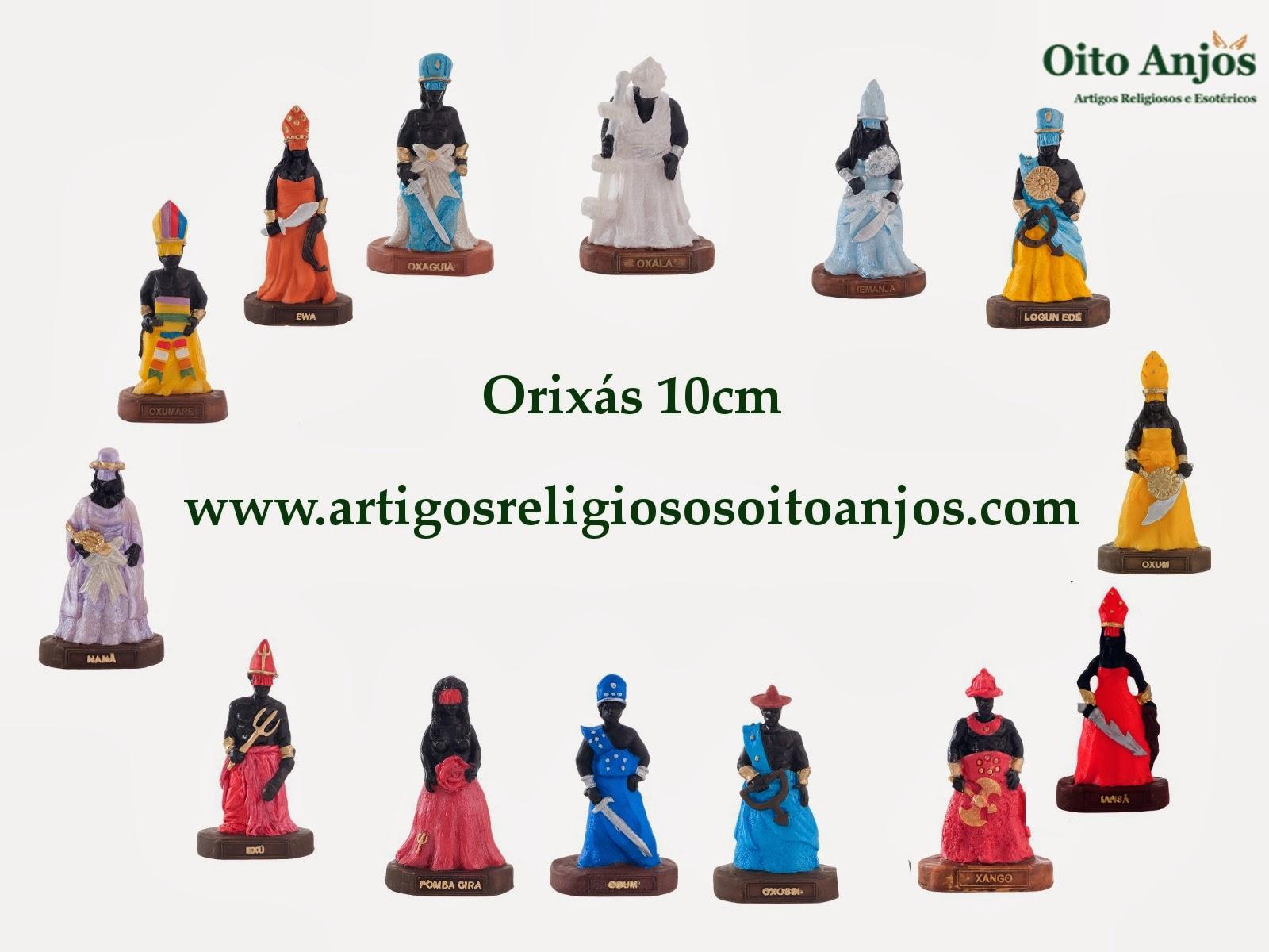 Imagem de Orixás - Orixás 10cm * Oito Anjos Artigos Religiosos e Loja Esotérica