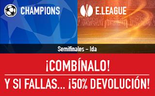 sportium devolucion Champions Europa League 2-4 mayo