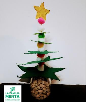 3 árboles de Navidad con materiales reciclados