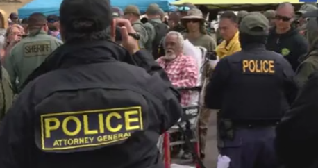 Police Now Arresting Elderly Kupunas Protecting Mauna Kea