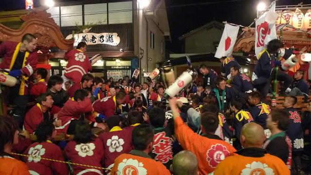 Danjiri Battle (float attach), Maniwa City, Okayama Pref.