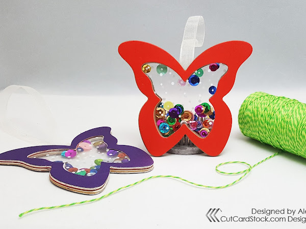 Butterfly Shaker Gift Tag