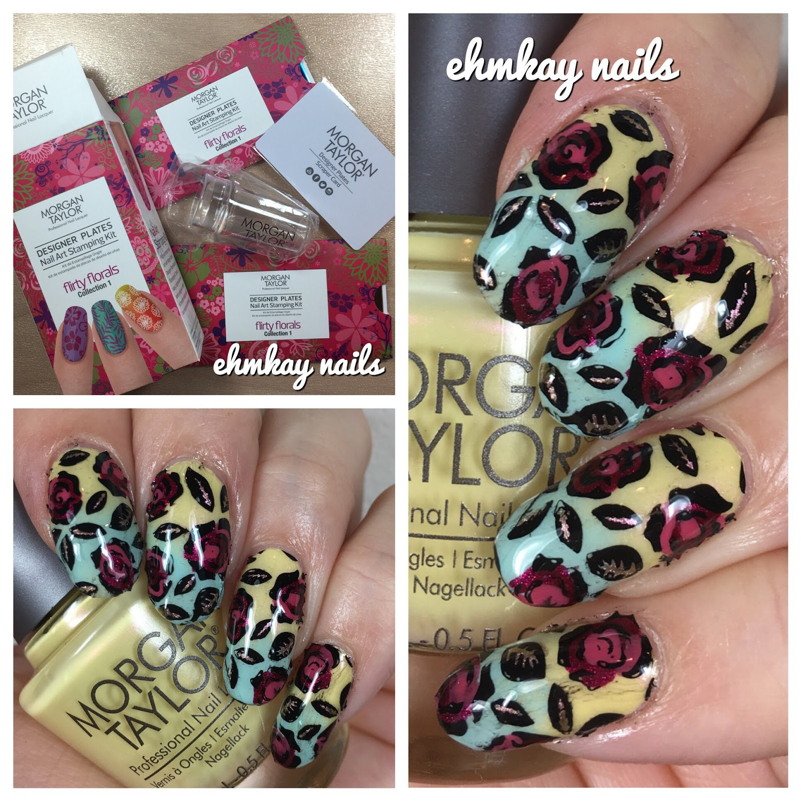 ehmkay nails: Morgan Taylor Floral Stamping Collection with Beauty ...