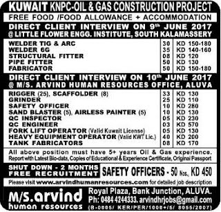 KNPC Kuwait Company Interview in Kochi