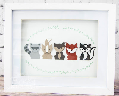 Foxy Friends Framed Picture - Available as a class so you can make one too - details here