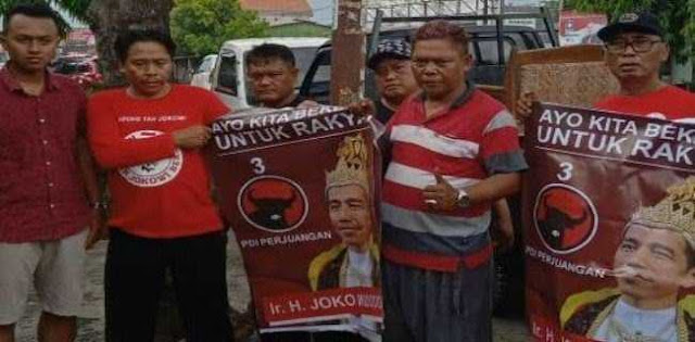 PDIP Jateng Sweeping Poster Jokowi Bermahkota