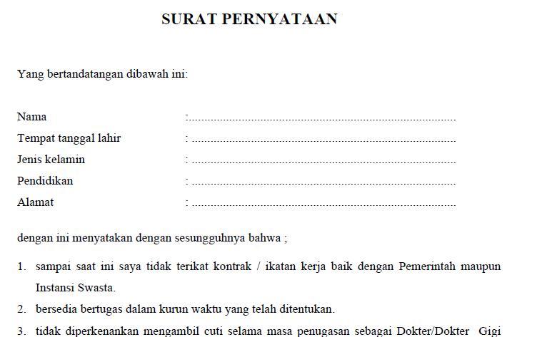 Contoh Surat Pernyataan Salah Transfer Surat Lamaran Kl