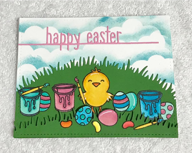 Sunny Studio Stamps: A Good Egg Customer Card Share by Cindy Genovia