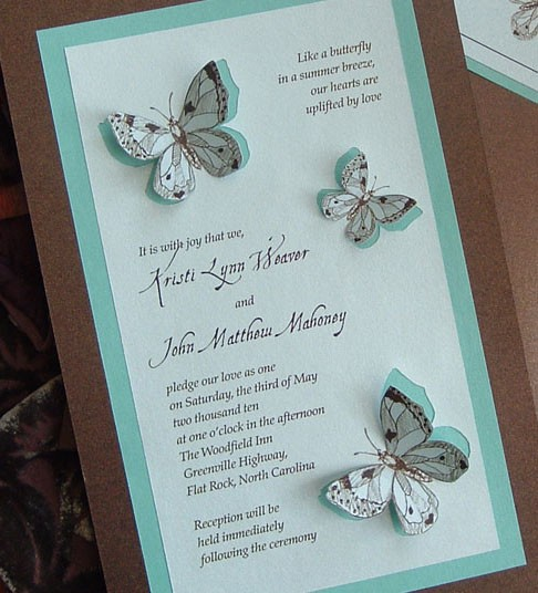 Butterfly Themed Wedding Invitations: Coordination Wedrose: For The Love Of Butterflies