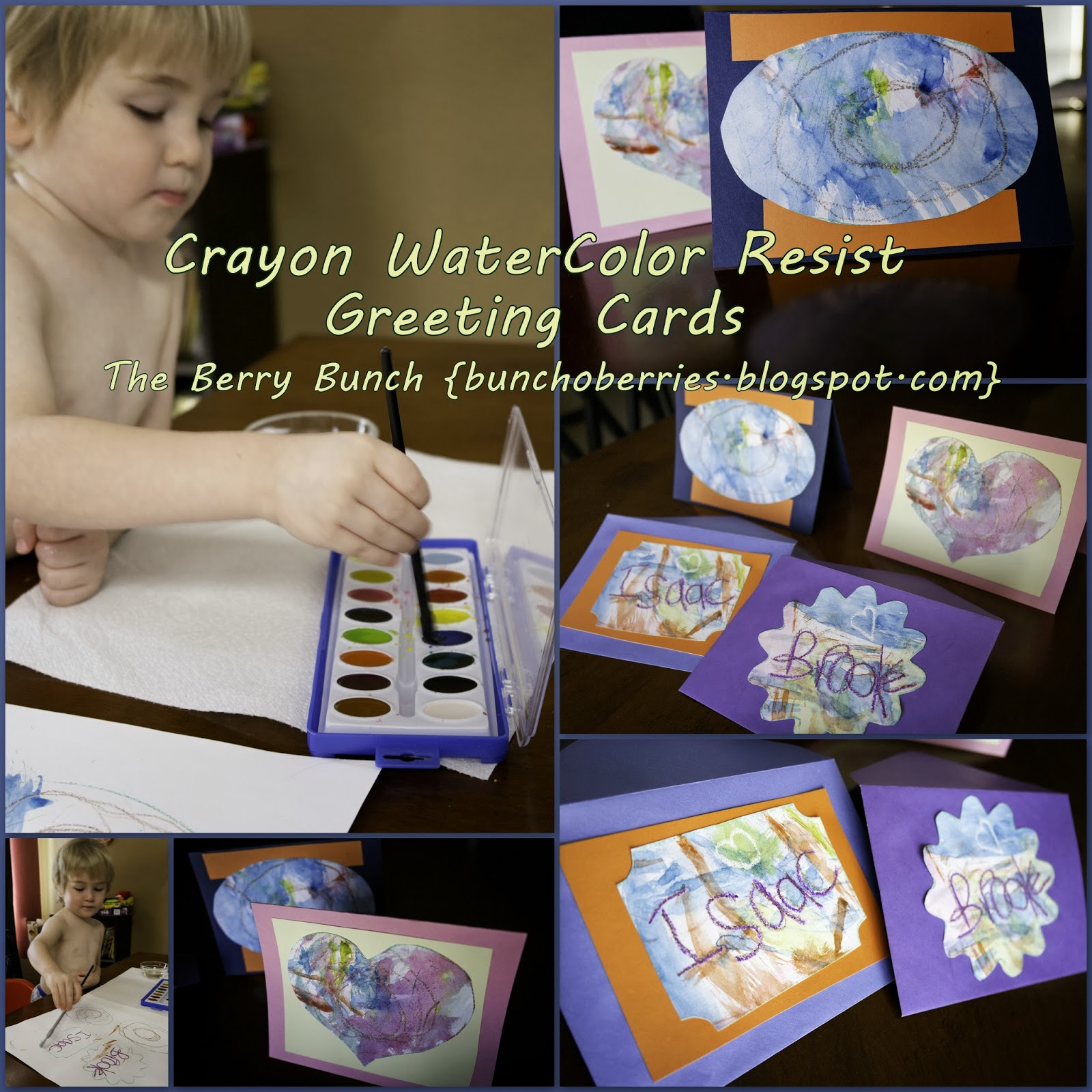 Crayon Water Color Resist Painting