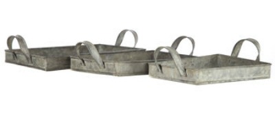 Rustic gray trays under $25