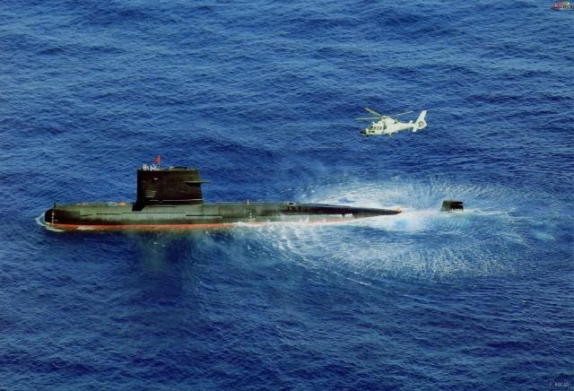 Latihan Bersama Kapal Selam Song class dan Helikopter Z-9C Chinan