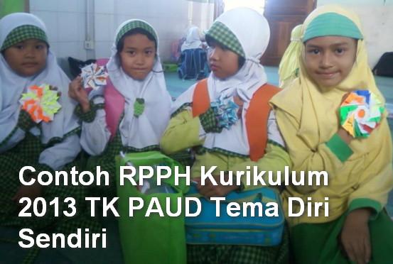 Contoh RPPH Kurikulum 2013 TK PAUD Tema Diri Sendiri